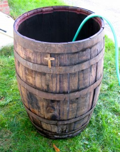 My father put a wooden cross on the wine barrel to bless the batch. And we've been blessed ever since.